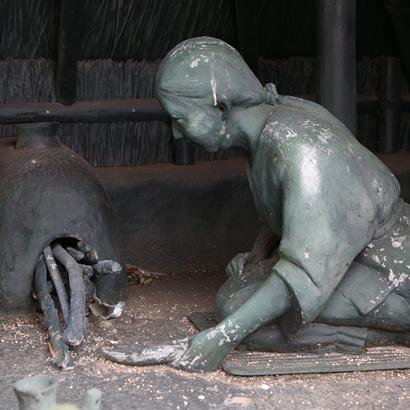 Site archéologique du sanctuaire shintoïste de Kifune Jinja– Aspect des poteries de fabrication de sel faites par les Ama