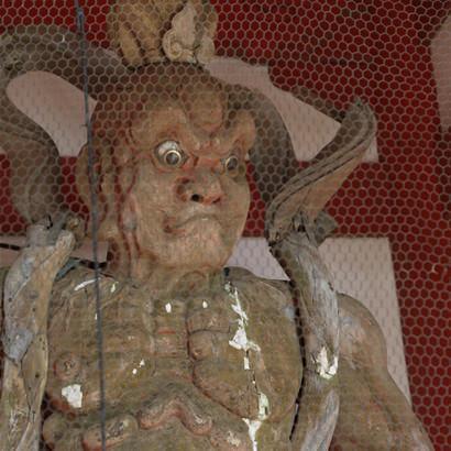 Temple Senzan Senkoji : Statue de Nio
