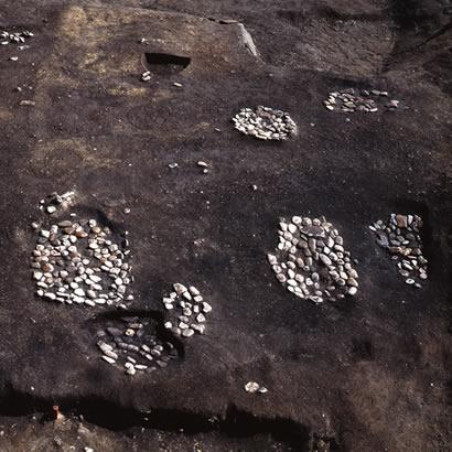 Site archéologique du sanctuaire shintoïste de Kifune Jinja: fouilles (propriété du Musée d'Archéologie de la préfecture de Hyogo)