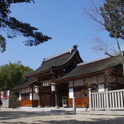 Sanctuaire shintoïste d'Izanagi : porte principale