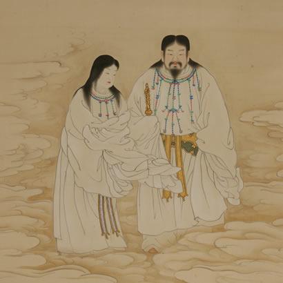 Sanctuaire shintoïste d'Izanagi : icône des Kamis
