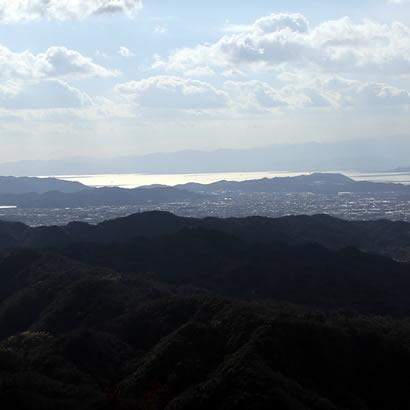 Vue du Mt Senzan, aussi connu sous le nom de Fuji d'Awaji